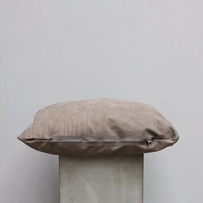 Limited edition high-quality Brown Suede Cushion - Small from Journey by Oliver Gustav