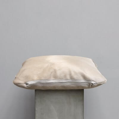 Limited edition high-quality white cowhide Cushion - Small from Journey by Oliver Gustav