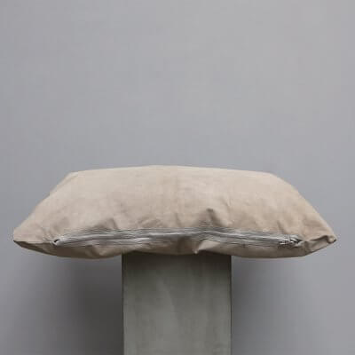 Limited edition high-quality Beige Suede Cushion - Large from Journey by Oliver Gustav